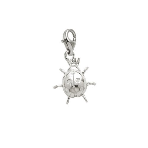 Rembrandt Charms Ladybug Charm with Lobster Clasp, Sterling Silver