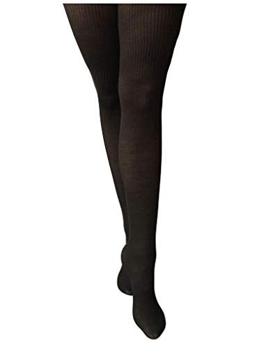 Levante Women's 1 Pair Rib 100 Denier Wool Tights X-Tall Nero -