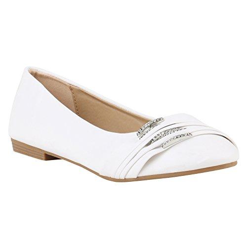 Stiefelparadies Klassische Damen Ballerinas Slipper Flats