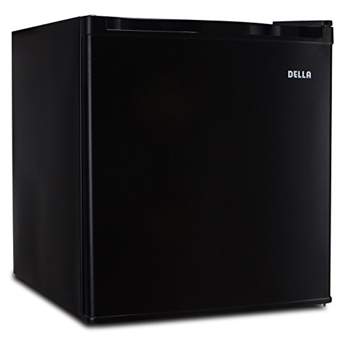 Della Black Compact Single Reversible Door Upright Freezer, 1.1 Cubic Feet
