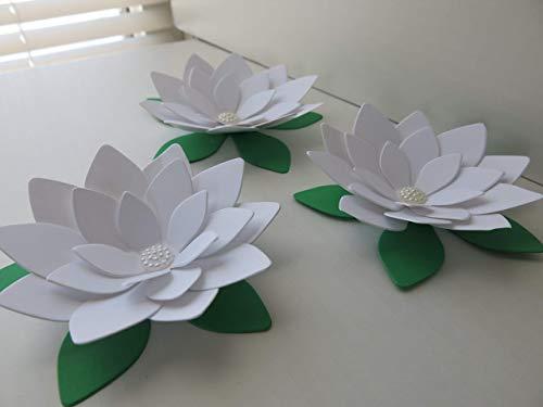 3 White Lotus Flowers, 4