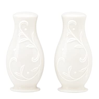 Lenox Opal Innocence Carved S and P Shaker Set