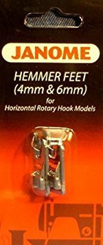 Janome Top-Load - Hemmer Foot Set 4mm & 6mm