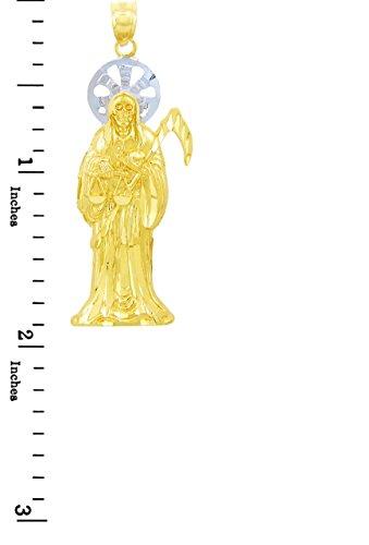10 ct 471/1000 Religieux Charmes - La Sankt Muerte Deux Ton Or (Medium) Pendentif