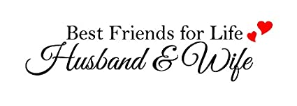 Amazoncom Newclew Best Friends For Life Husband Wife Wall Art