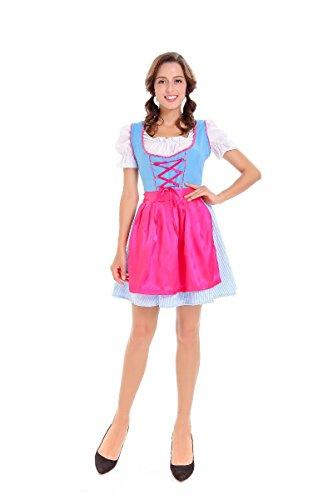 Halloween Costumes Halloween Beer Girl Costume Bavarian Maid Costume Play, Style 1, XL