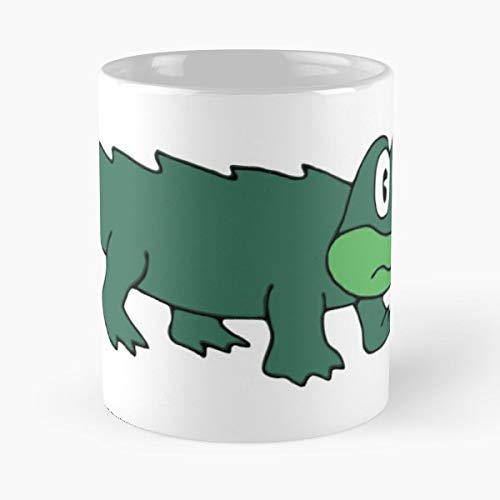 King Gizzard And The Lizard Wizard Cartoon Alligator Crocodile Psychedelic Coffee Mugs Unique Ceramic Novelty Cup