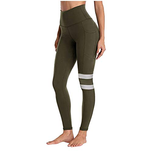 5555 Hoge taille Yoga Leggings, Tummy Control Workout Running 4 Way Stretch Yoga Broek