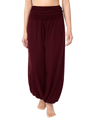pantaloni Vino Harem Donna Rosso Boho Yoga Moda Pantaloni Cassiecy Pantaloni lunghi OZ4AFq7Own