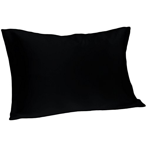 (Spasilk 100% Pure Silk Pillowcase for Facial Beauty and Hair Health, Standard/Queen, Black)