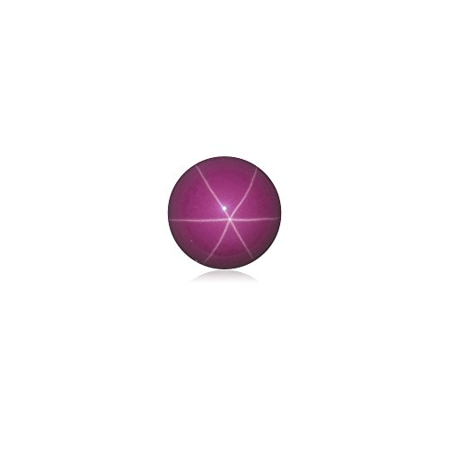 Mysticdrop 2.60-2.95 Cts 8 mm AAA Round Cut German Lab Created Star Ruby Cabochon (1 pc) Loose - Ruby Cabochon
