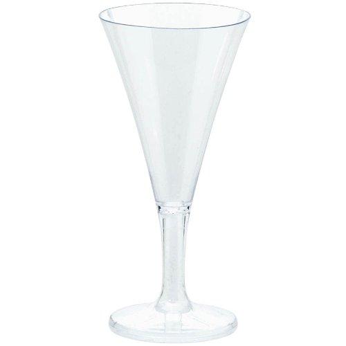 Amscan Washable Plastic Mini Champagne Flute (20 Pack), 2.5 oz, Clear (Mini Champagne Flutes compare prices)