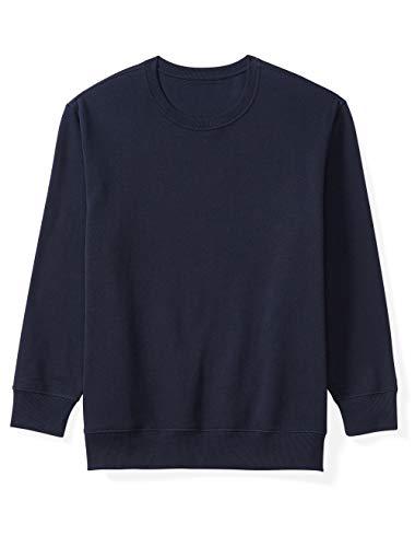 (Amazon Essentials Men's Big and Tall Crewneck Fleece Sweatshirt fit by DXL, Navy, 2X)