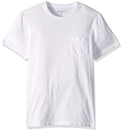 Tee Pocket Crew - J.Crew Mercantile Men's Crewneck Pocket T-Shirt, White, L
