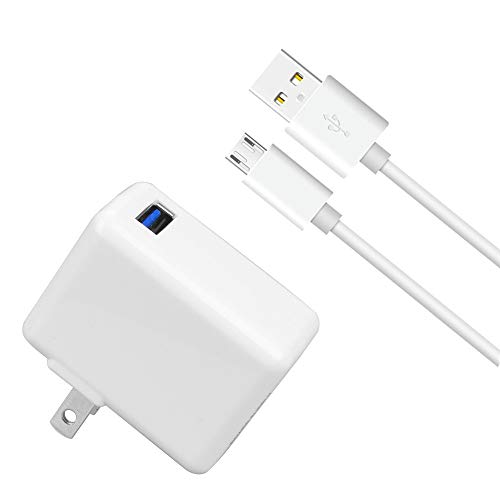 Kindle Fire Fast Charger, 12W 2.4A Rapid AC Adapter with 5ft Micro-USB Cable for Fire Tablet, Fire HD 8, 7 10,Kids, Fire Stick, Echo Dot, Paperwhite, Samsung-Galaxy Note, Tab A,E,S,S2,7,8