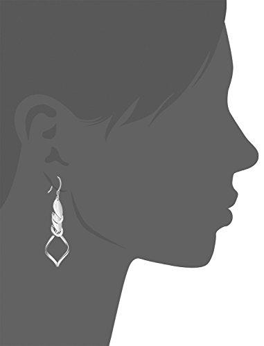 Boucles d'oreilles en argent sterling 925avec créoles torsadées-alovu Jewelry Boucles d'Oreilles Pendantes