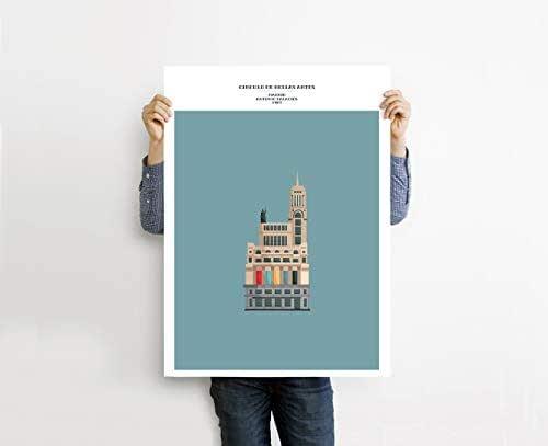 """Ilustración """"Círculo de Bellas Artes de Madrid"""". Lámina disponible en dos medidas: A2+ / A1+."""