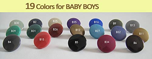 (Maslin 190 Sets/lot T-5-006 KAM 12.4mm Plastic Nylon 19colors snap Fastener 4-Part Buttons for Baby boy Kidswear - (Color: B25))