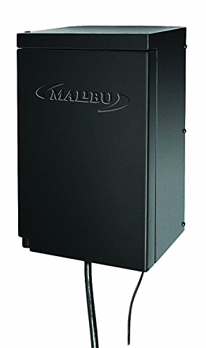 Malibu 200 Watt Power Pack with Sensor and Weather Shield for Low Voltage Landscape Lighting Spotlight Outdoor Transformer 120V Input 12V Output 8100-0200-01