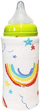 Tragbare Flasche Wärmer Heizung Reise Baby Kinder Cartoon Milch Wasser USB-Schutzhülle Tasche Kleinkind Heizbecher Tasche Rosa