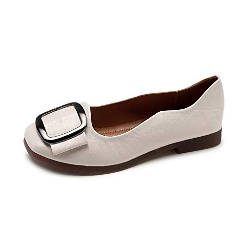 A retro work maternity shoes fashion Spring shoes and non flat FLYRCX slip shallow casual autumn shoes mouth wqFTgxInva