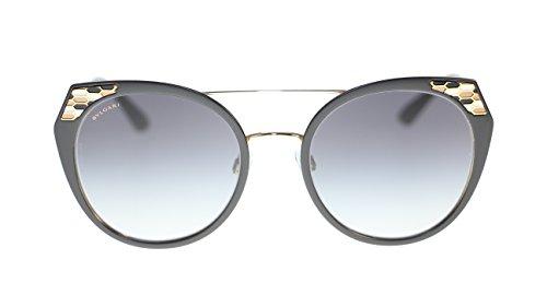 BVLGARI Women's Sunglasses BV6095 20248G Black/Grey Gradient Lens - Sunglasses Women Bvlgari