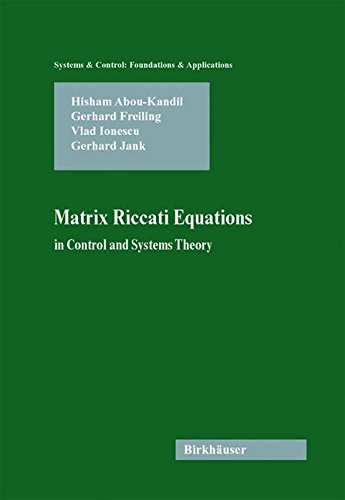 Matrix Riccati Equations in Control and Systems Theory (Systems & Control: Foundations & Applications)