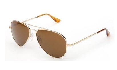 Randolph Concorde CR71432 Polarized Aviator Sunglasses, 23K Gold, 57 - 23 X Sunglasses