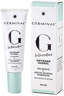 Germinal Intensitive - Crema facial Antiedad de día con Colágeno y Aceite de Rosa Mosqueta, para pieles maduras, sensibles o secas, FPS30 - 50ml