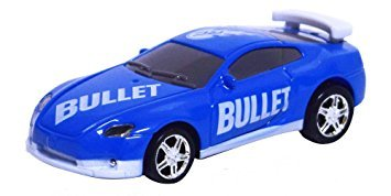 (As Seen on TV RC Pocket Racers Remote Controlled Micro Race Cars Vehicle, Bullet Blue )