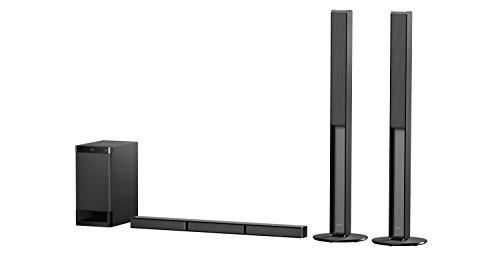 Sony HT-RT4 600W 5.1 CH Soundbar System with Tall Rear Speakers - Black