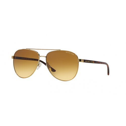 Michael Kors Women's Aviator Sunglasses, Tortoise Gold/Warm Brown, One Size (Michael Kors Tortoise)