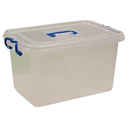 Kingfisher Plastic Lockable Storage Box, Transparent, 20 Litre