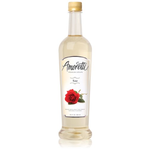 Amoretti Premium Syrup, Rose, 25.4 Ounce