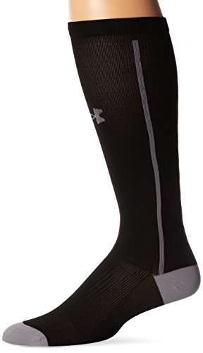 Under Armour Men's Circulare II Compression Over-the-Calf Socks (1 Pair), Black/Graphite, Large