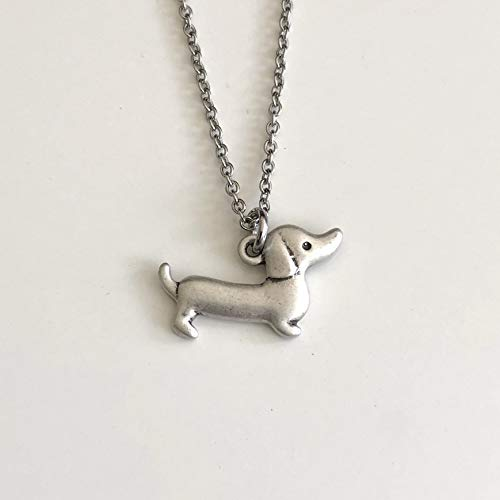 - Dachshund Necklace on Stainless Steel Chain Doxie Wiener Dog Breed Jewelry - Dog Mom Gift