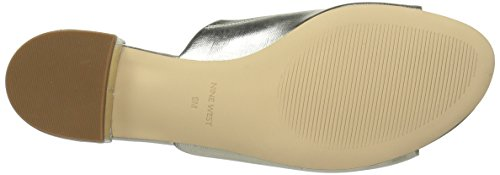 Nine West Womens Raissa Synthetic Slipper, Light Gold Synthetic, 10 M US