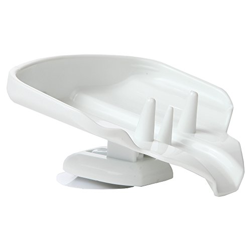 Home-X Self-Draining Soap Holder, Drip-Free Suction Cup Soap Dish