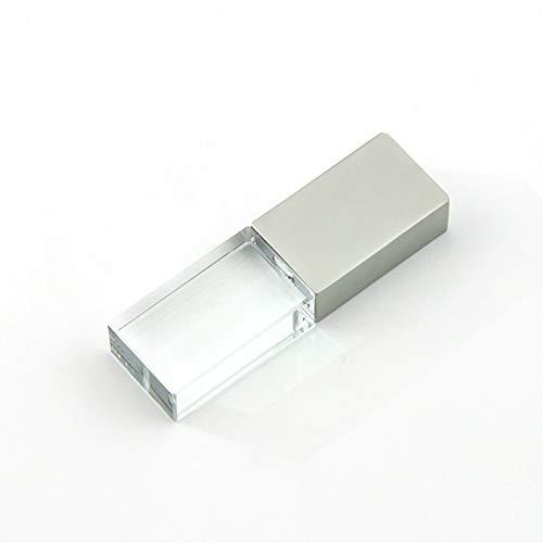 (32GB USB 2.0 LED Light Flash Drive Crystal Transparent Glass Pen Drive Memory Stick Thumb Drives Pendrive )