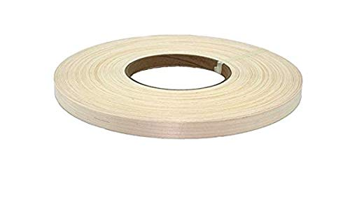"White Maple 1-1/2"" X 250 Wood Veneer Edgebanding Preglued Roll. Unfinished"