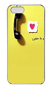 iPhone 5s Cases & Covers - Listen Custom PC Soft Case Cover Protector for iPhone 5s - Transparent