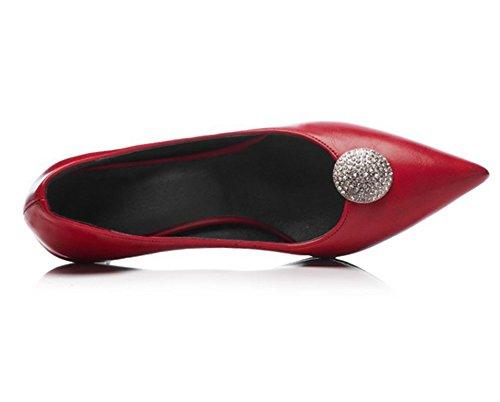 Dedo Mujer Resbalón Del Corte Red Clásico Puntiagudo Estilete Pie Zapatos Alto Zapatillas En Talones rvrHYzwnq