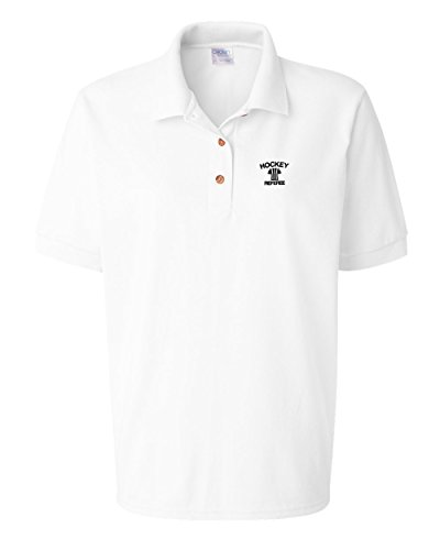 Speedy Pros Hockey Referee Sport Embroidery Polo Shirt Golf Shirt - White, 2X Large (Hockey Referee Jersey Pro)
