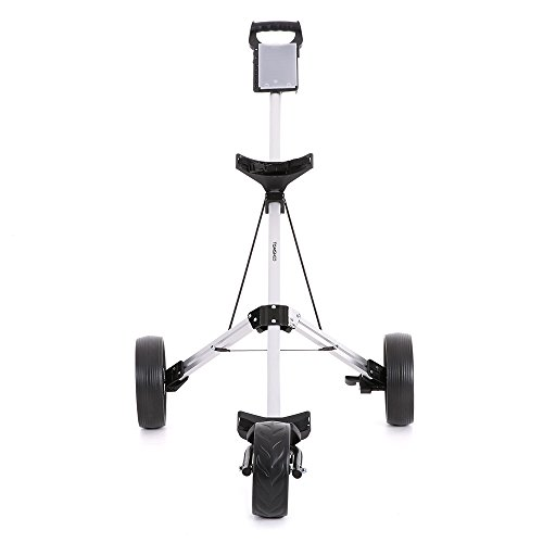 TOMSHOO 3 Wheels Golf Push Cart Foldable Aluminum Pull Cart Trolley with Footbrake System by TOMSHOO (Image #7)