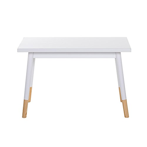 Bloomingville Pine Kids Table, Matte White with Natural Legs