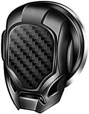 TOTOTO Capa de partida de um botão, capa de botão de parada universal de motor de carro, capa protetora antiarranhões com botão de partida de um botão para acessórios automotivos, preto/prata