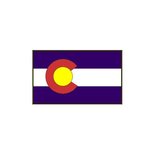 Online Stores Colorado Printed Polyester Flag 3x5 - Colorado Flag 3ft. x 5ft.