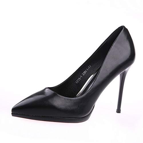 FLYRCX Schwarze Arbeit Schuhe Schuhe Schuhe Frühling und Herbst wies Lackleder Stiletto Heels Damen flachen Mund Schuhe c0a61f