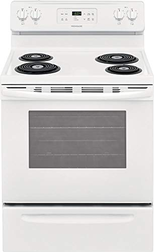- Frigidaire FFEF3016UW 30 Inch Freestanding Electric Range with 4 Coil Elements, 5.3 cu. ft. Primary Oven Capacity,in White