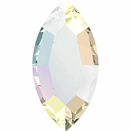 293f849a6 Amazon.com: 2200 Swarovski Flatback Crystals Hotfix Navette / Marquis | Crystal  AB | 8x4mm - Pack of 10 | Small & Wholesale Packs | Free Delivery: Arts, ...